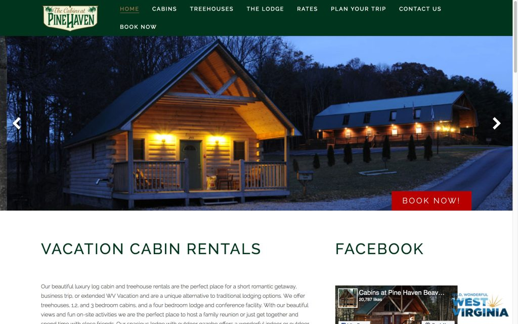 pine-haven-vacation-web-design