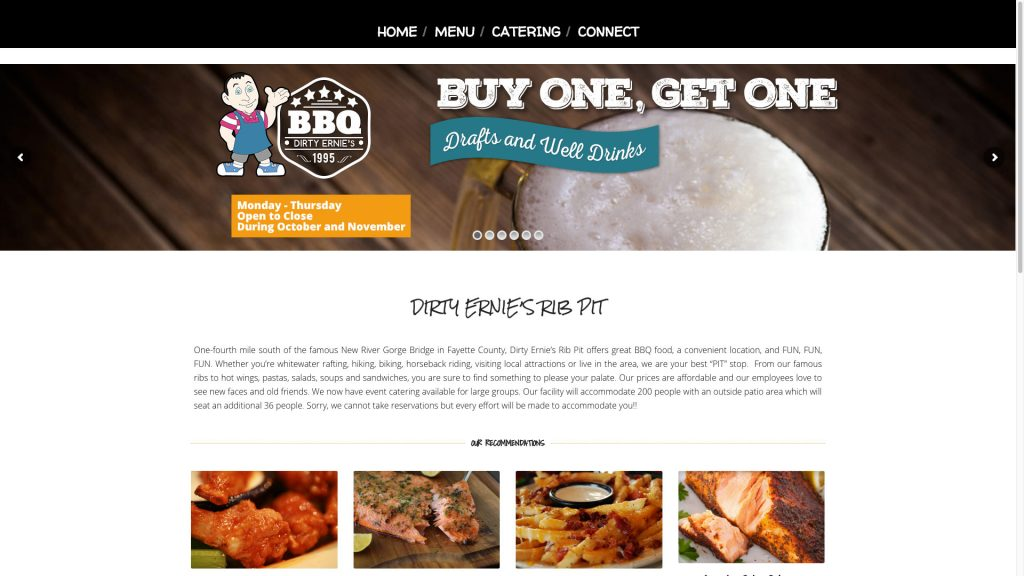 dirty-ernies-bbq-web-design
