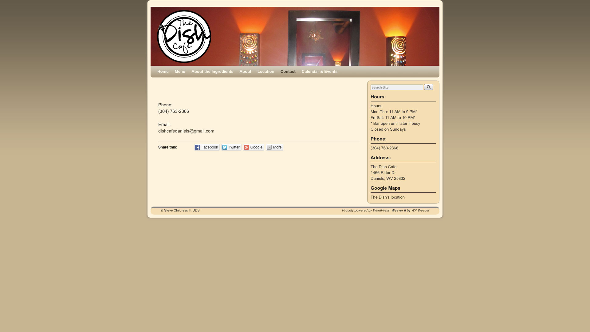 dish-cafe-contact-web-design