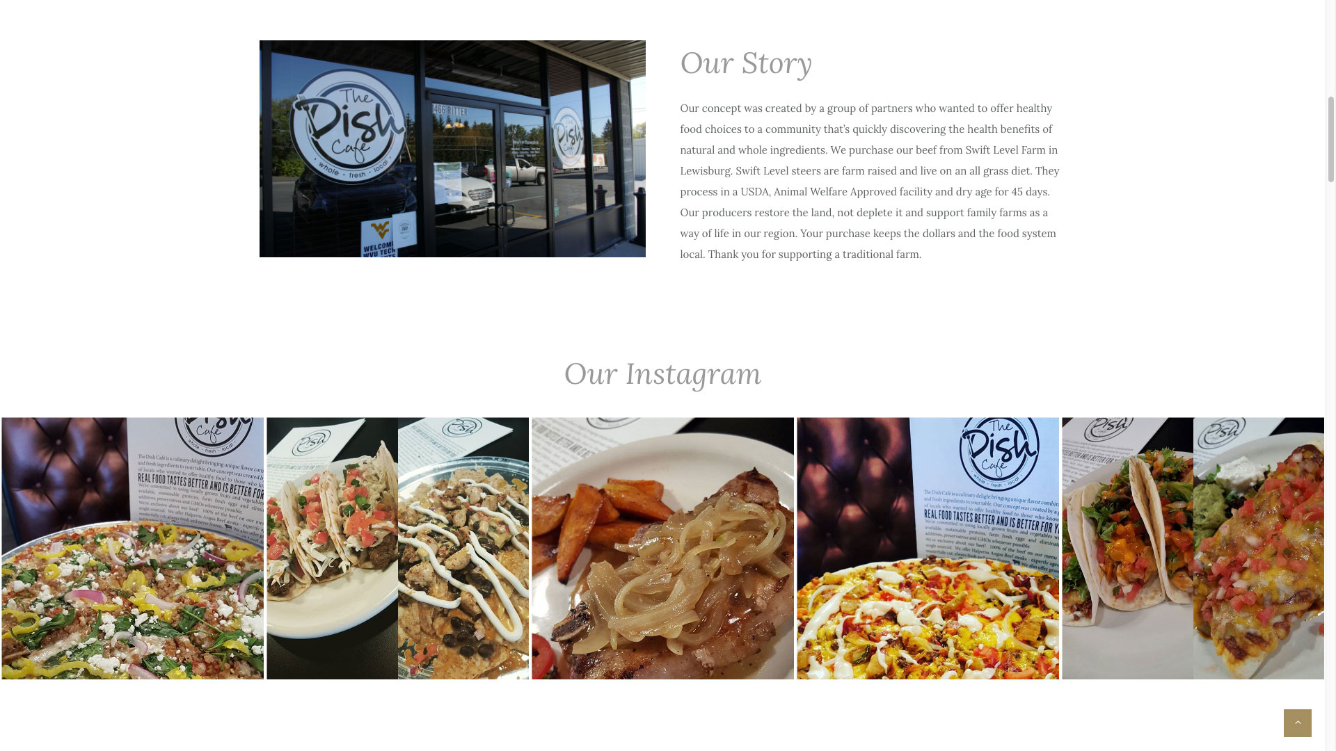 dish-cafe-our-story-web-design