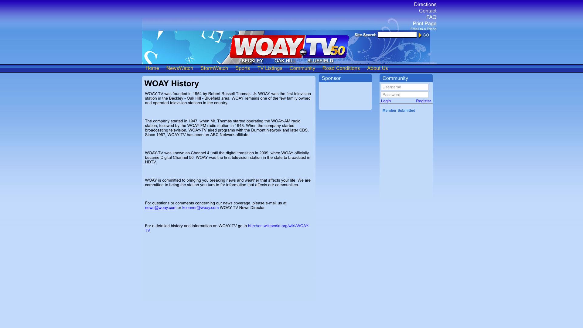woay-history-web-design