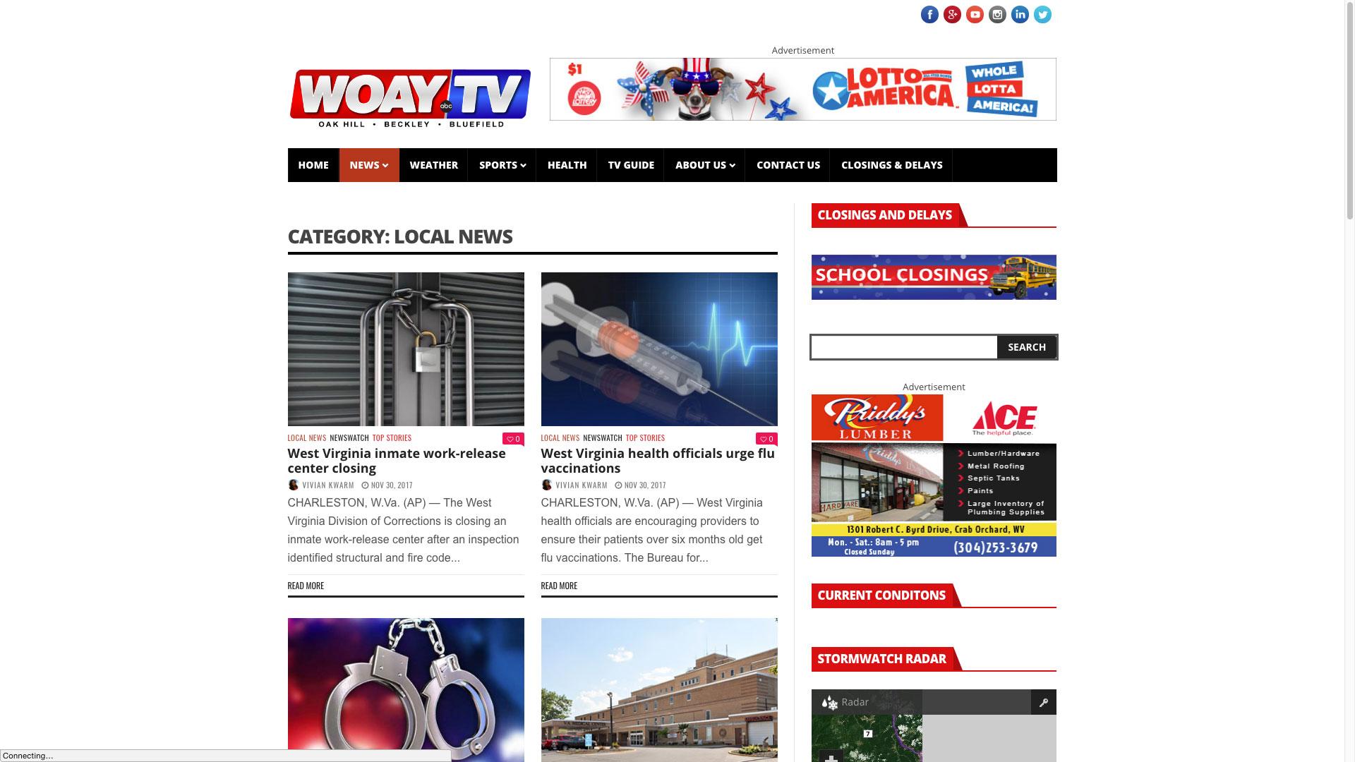 woay-local-news-web-design