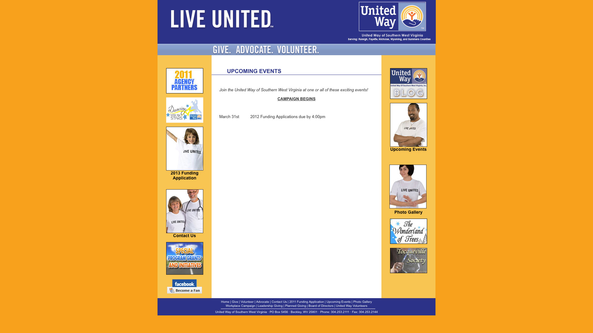 united-way-upcoming-events-web-design