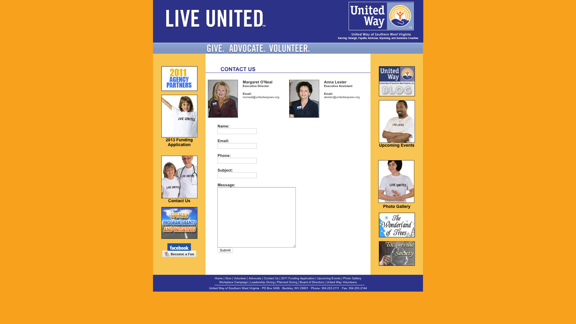 united-way-contact-web-design