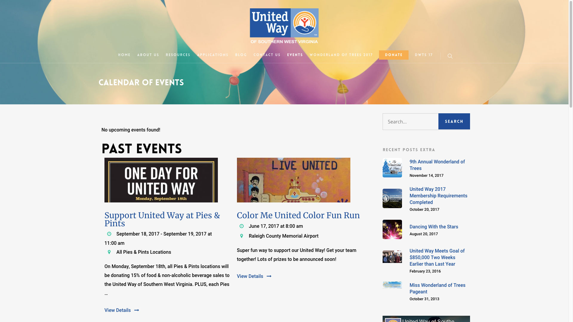 united-way-calendar-of-events-web-design