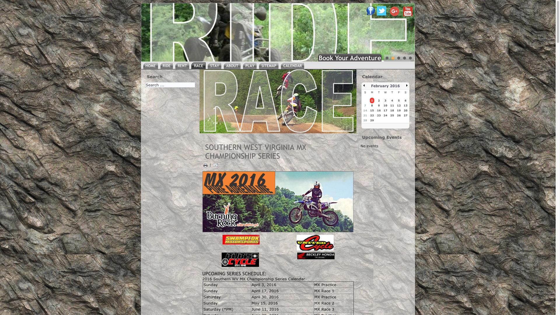 ride-race-web-design