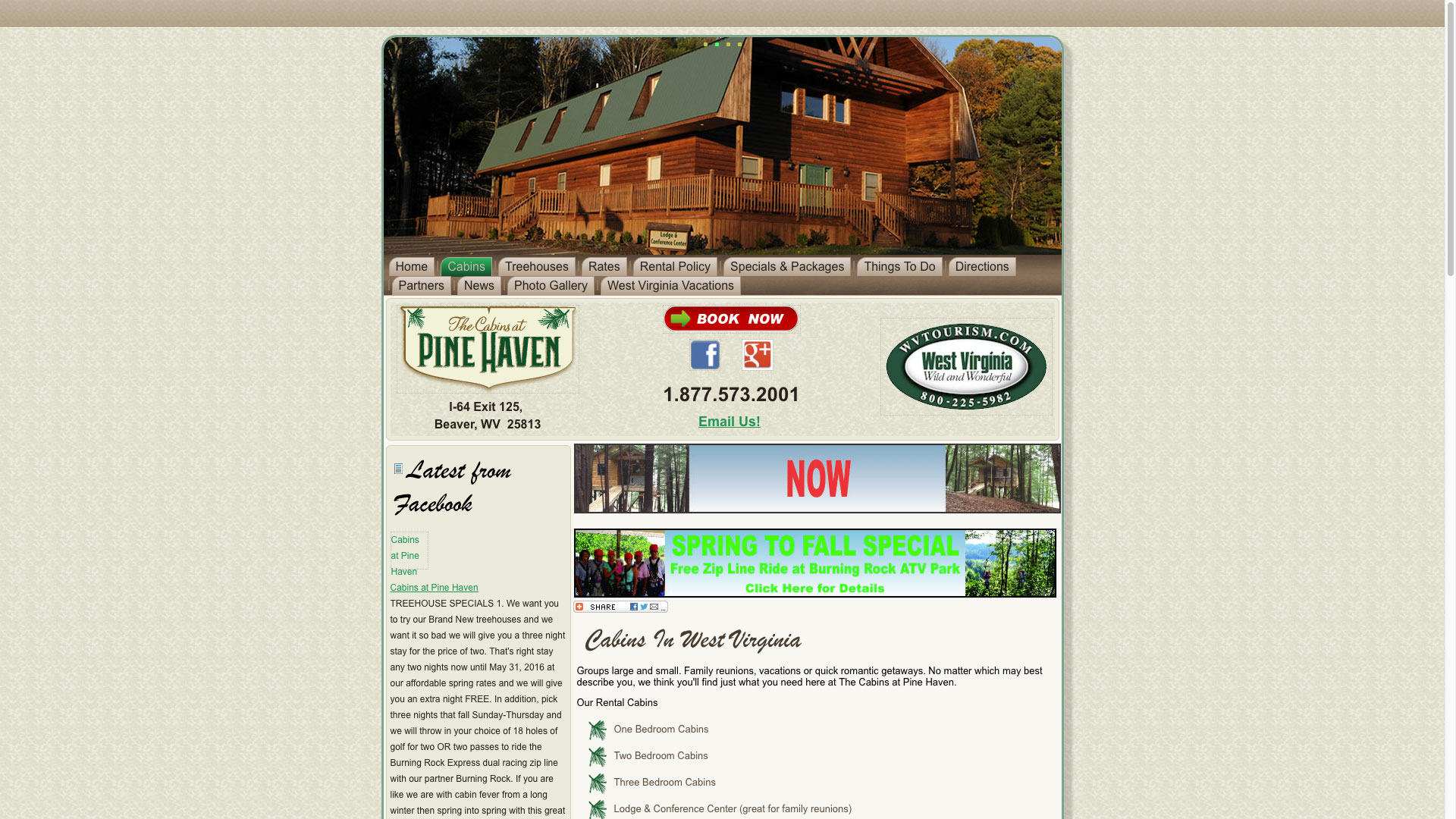 pinehaven-about-cabins-web-design