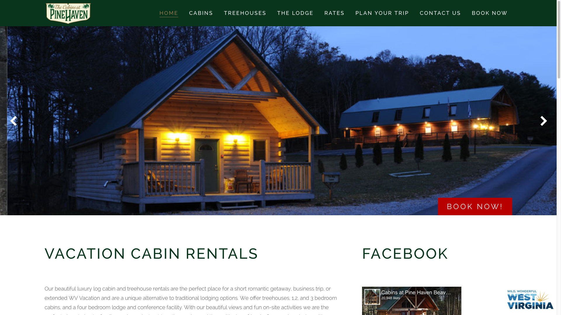 pinehaven-vacation-cabin-web-design