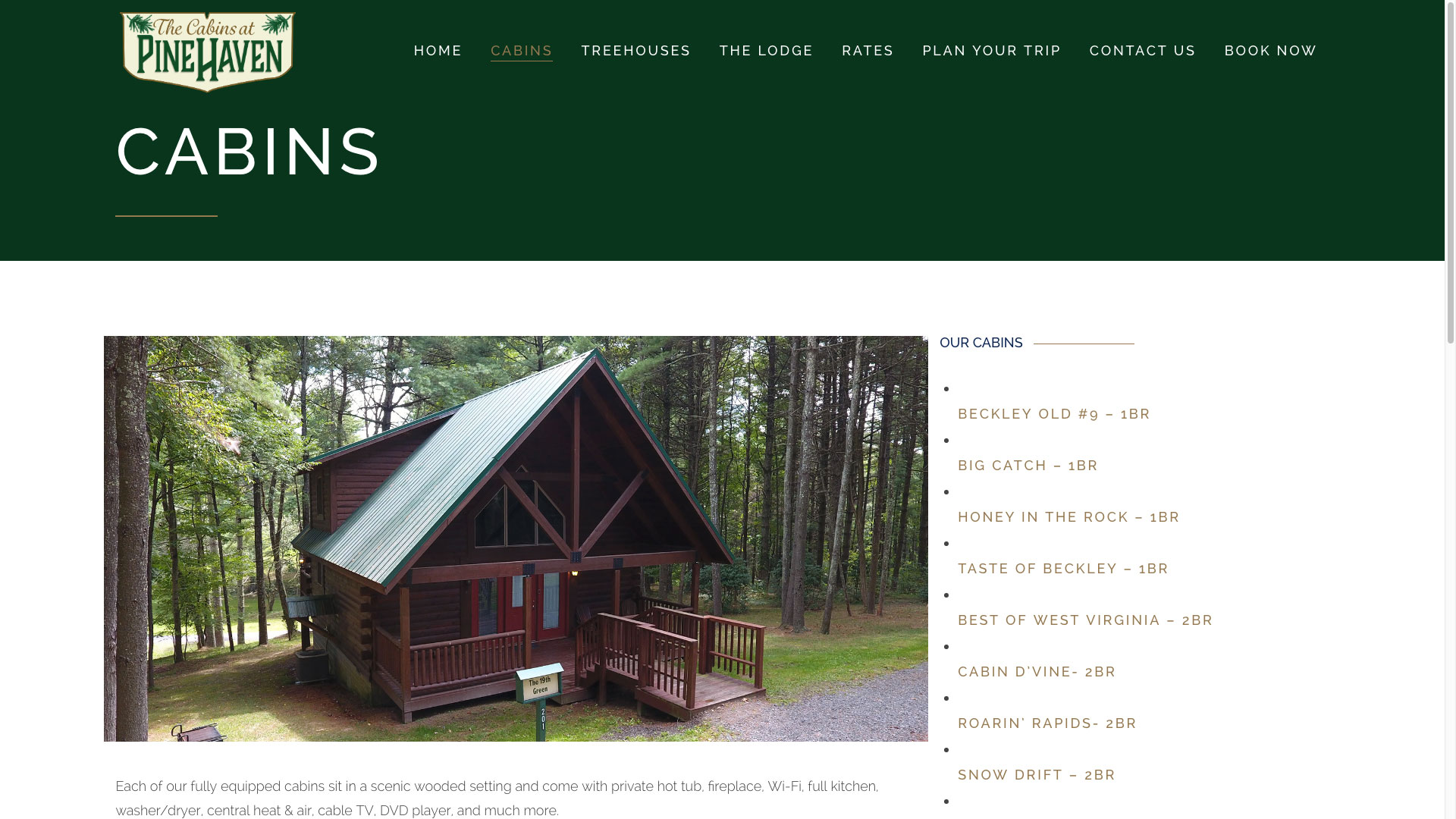pinehaven-cabins-web-design