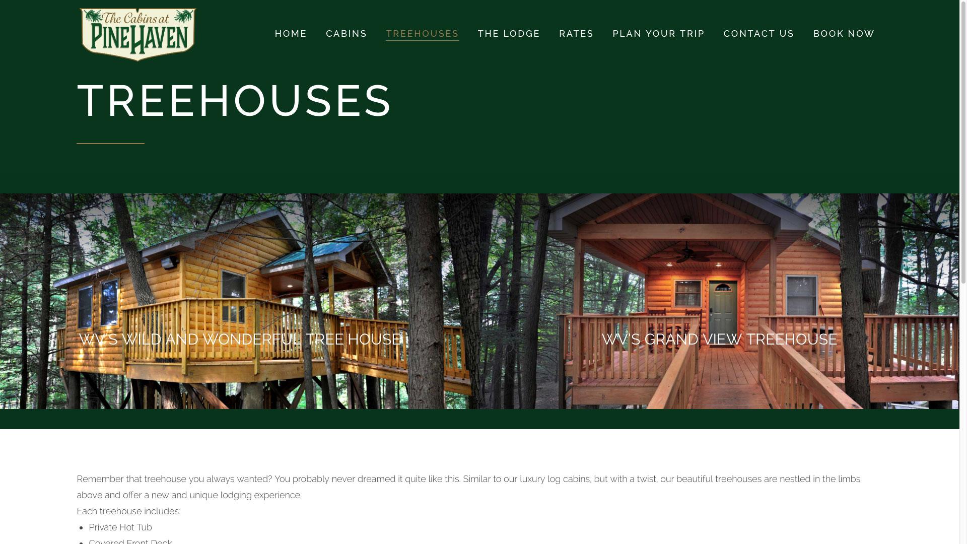 pinehaven-treehouses-web-design