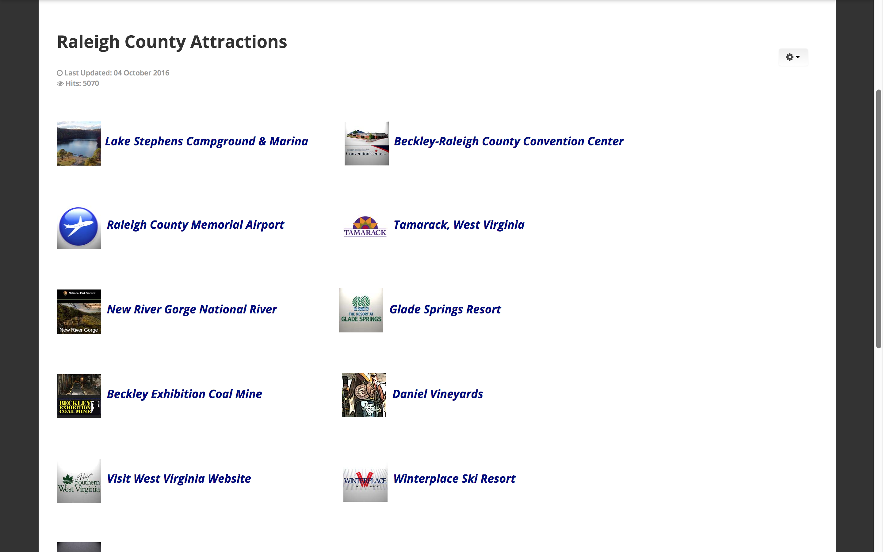 raleigh-county-attractions-web-design