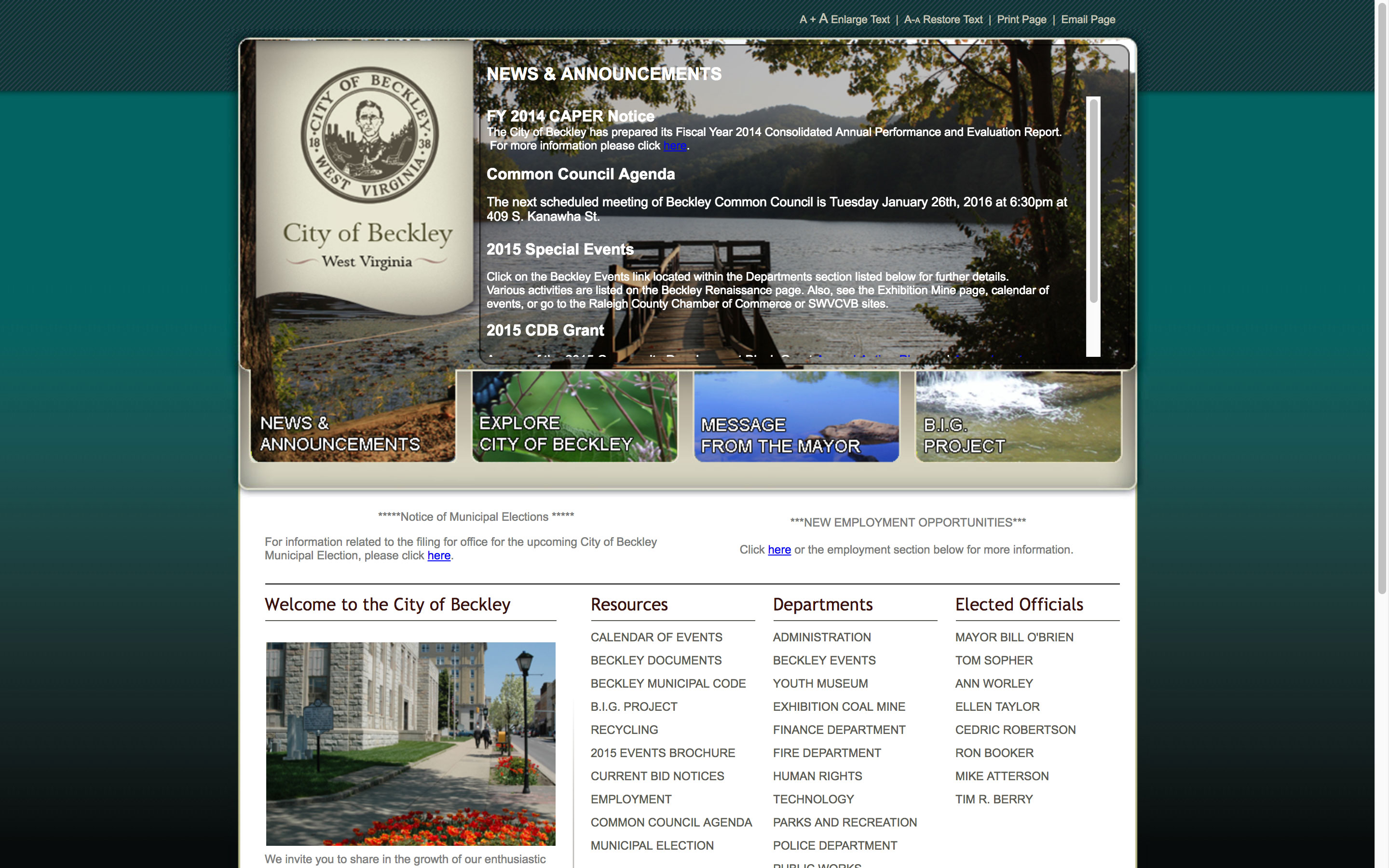 beckley-news-and-announcements-web-design