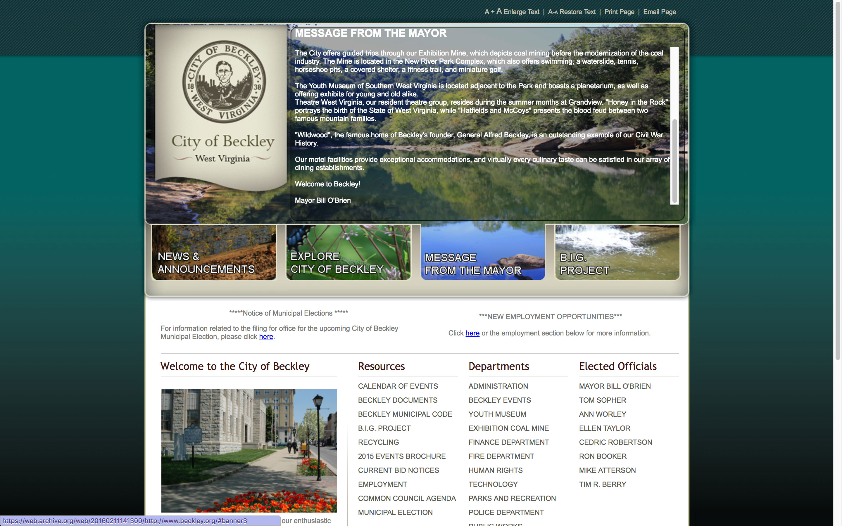 message-from-mayor-web-design