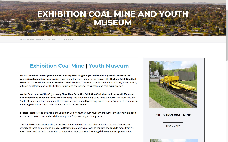 exhibition-coal-mine-web-design