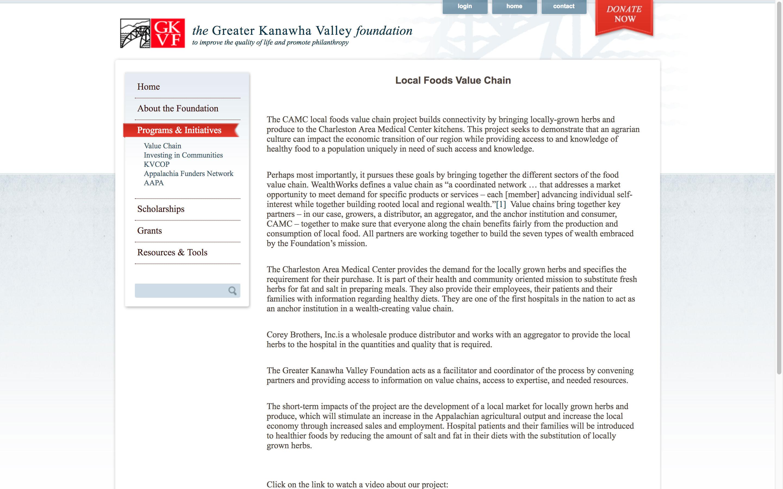 local-food-value-chain-web-design
