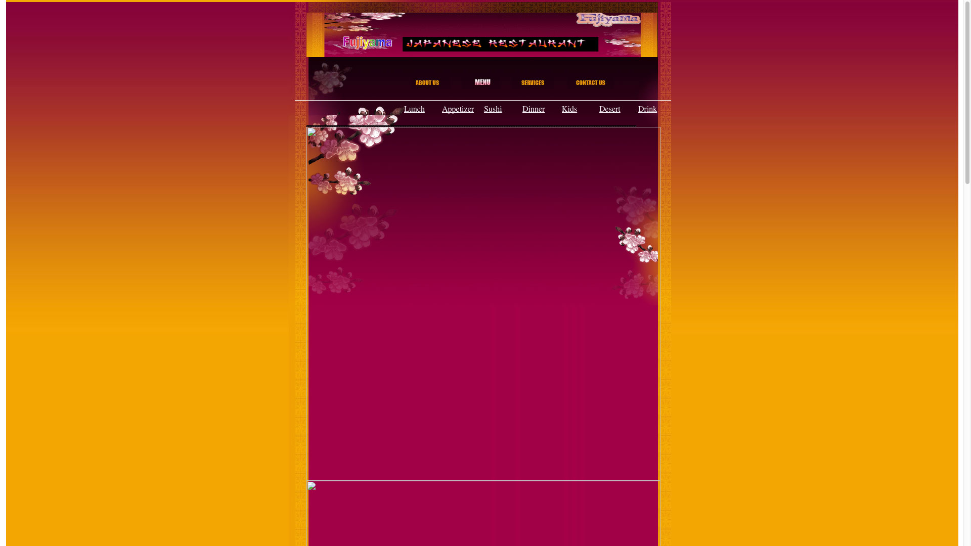 Fujiyama Japanese Restaurant Menu Page Website before using Cucumber & Co WV Web Design Beckley Princeton Bluefield Website Production