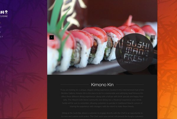 Kimono Kin Home Page Web Design by Cucumber and Co Best Websites in WV Beckley Princeton Bluefield Huntington Charleston Website Production