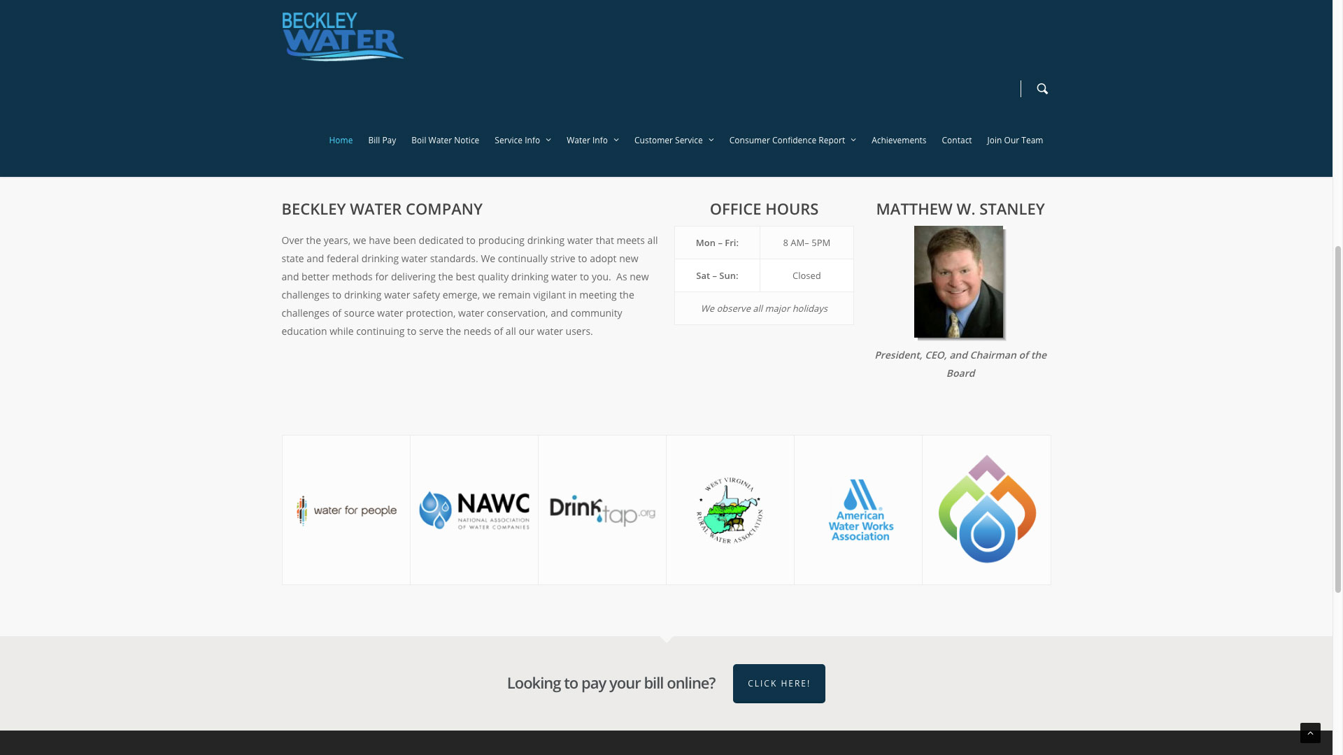Beckley Water Company Web Design by Cucumber & Co Best Websites in WV