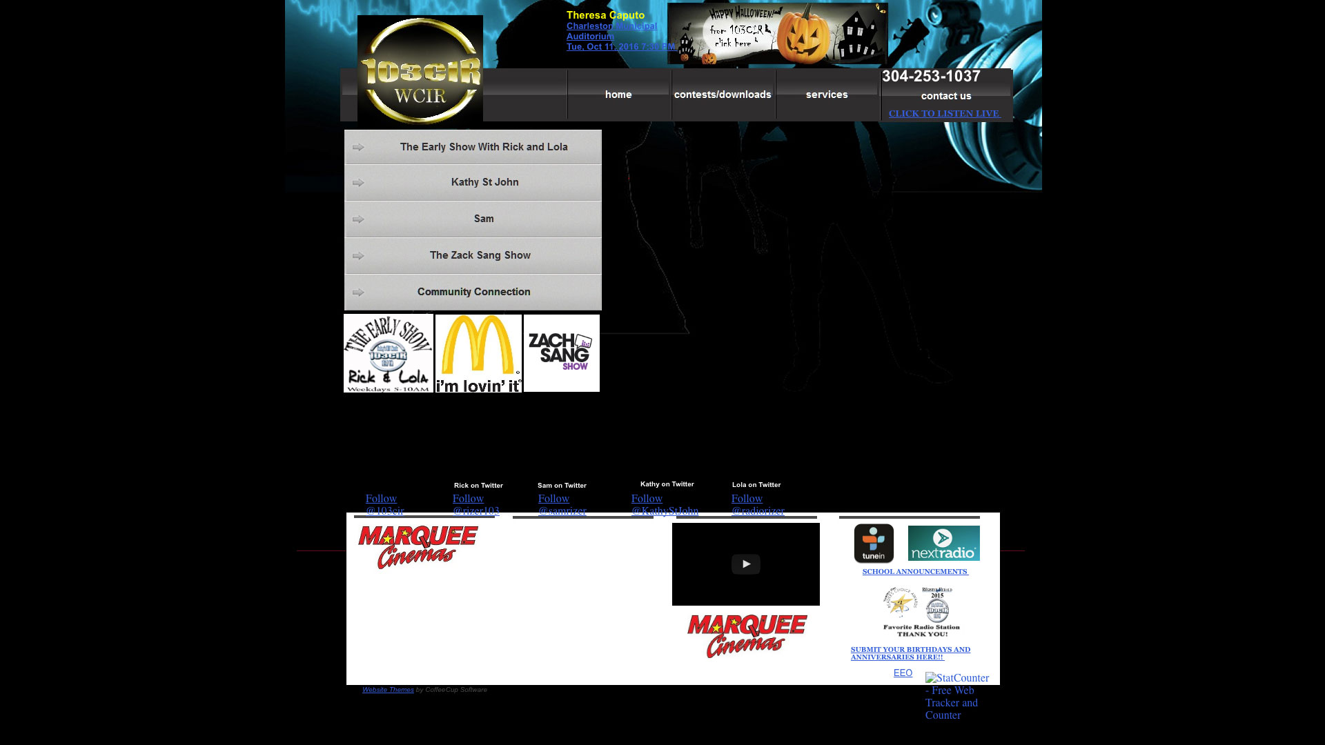 103CIR Radio Website before using Cucumber & Co Best Websites in WV Web Design